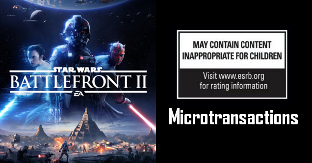 Battlefront 2 ESRB microtransactions.