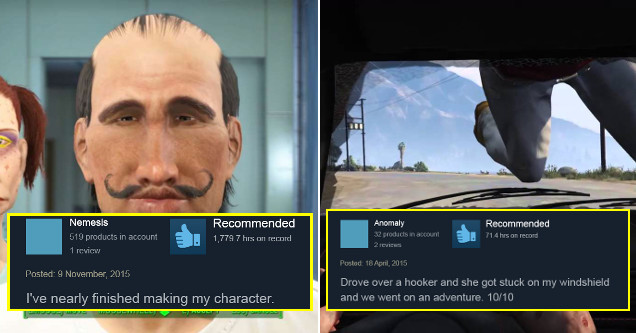 Funny Steam reviews.