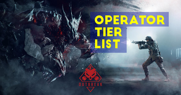 Rainbow Six Siege Outbreak operator tier list art.