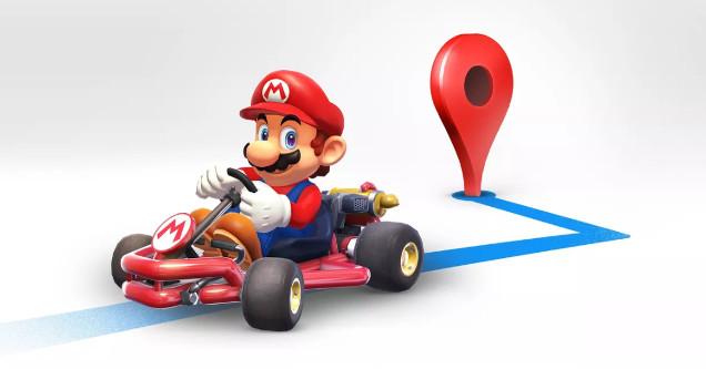 Mario Google Maps easter egg.