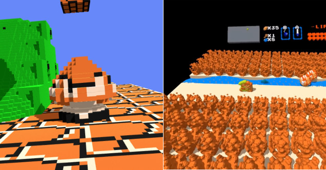 3DNes VR gameplay screenshots.