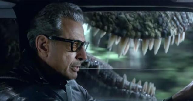 Jurassic Evolution game with Jeff Goldblum.