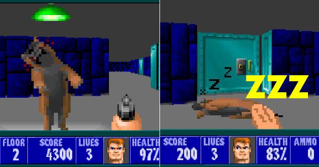 Wolfenstein 3D dog mod Woof3D.