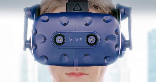 HTC Vive Pro headset.