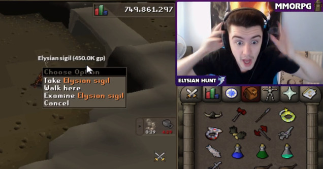 Gamer Loses It After Finding Ultra Rare Drop In RuneScape