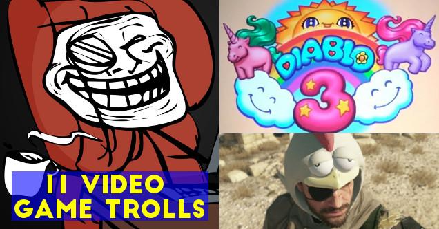 Video game developer trolls.