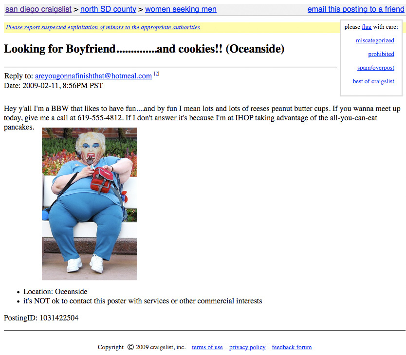 craigslist jokes website