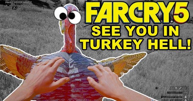 Far Cry 5 turkey enemy.