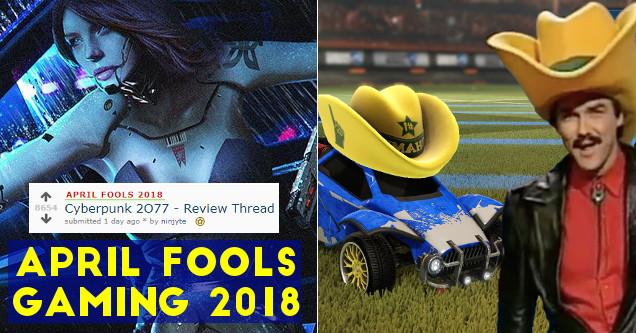 April Fools gaming 2018.