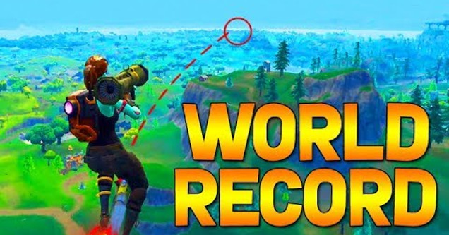 Fortnite rocket world record.