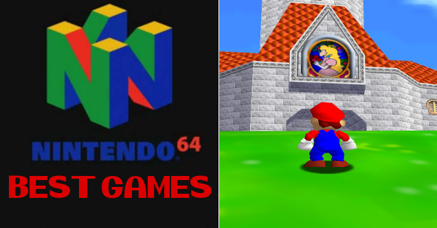 Nintendo 64 best games of the 90's including Super Mario 64.