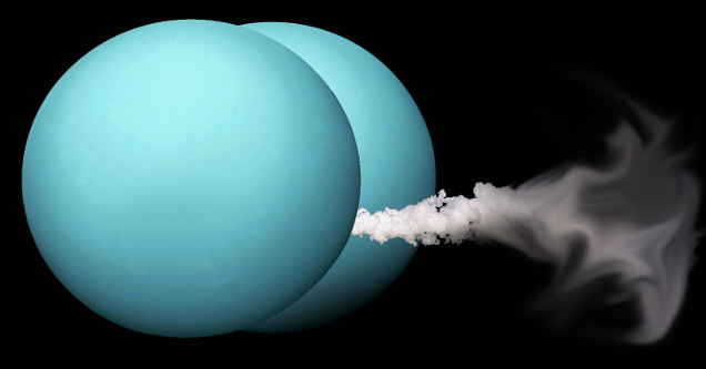 Uranus with smelly farts ejecting.