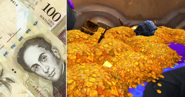 WoW gold vs Venezuelan Bolivar.