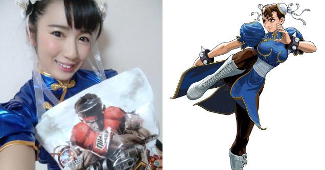 Chun Li cosplay Reika Saiki.