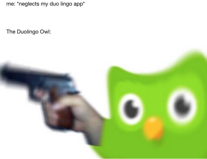 Evil Duolingo Owl meme - the original meme that started it all