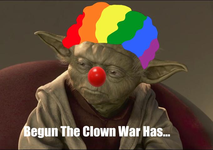 Yoda as Pepe the Clown