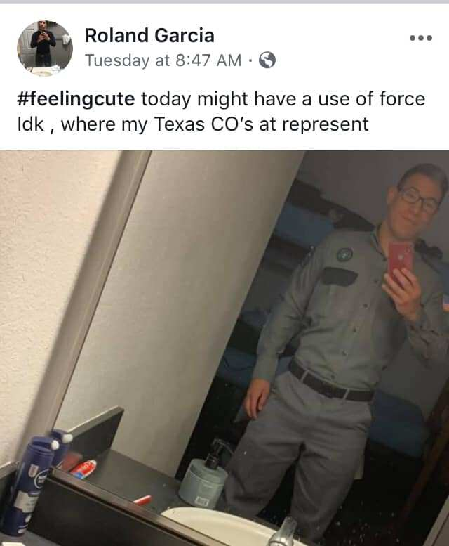#feelingcute today might have a use of force idk, where my texas co's at represent.