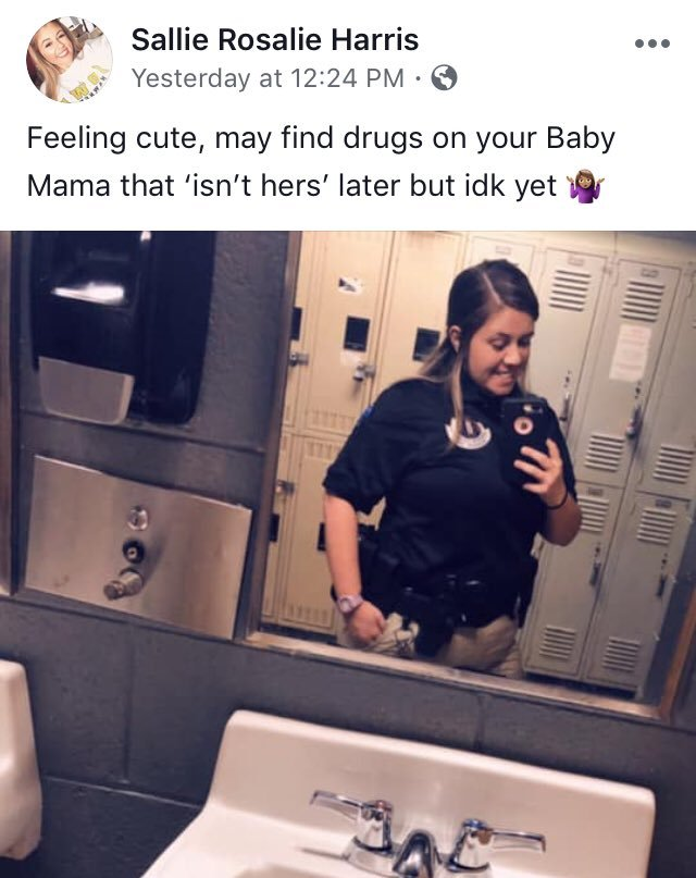 Feeling cute, may find drugs on your baby mama that 'isn't hers' later but idk yet