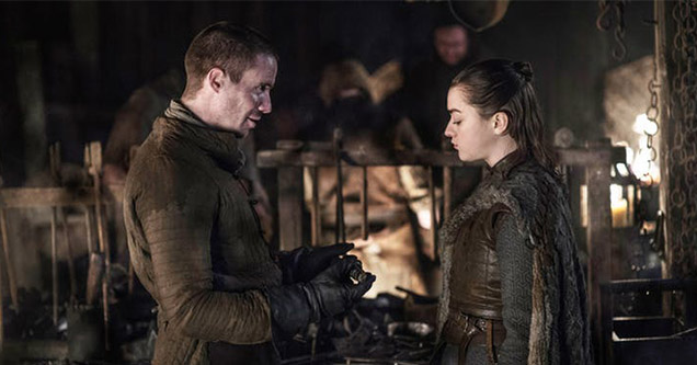 Arya Stark and Gendry Baratheon in Game of Thrones Season 8 Episode 2 memes and reactions