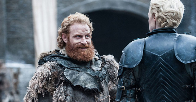 Tormund Giantsband and Brienne of Tarth in Game of Thrones Season 8 Episode 2