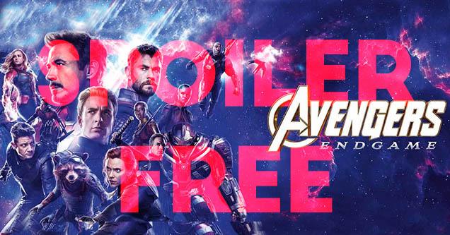 Marvel's Avengers Endgame movie poster that says spoiler free on it.
