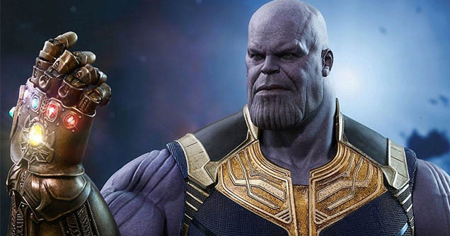 Thanos with the infinity gauntlet from Avengers Endgame. Google has created an easter egg featuring the gauntlet.