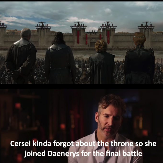 Dany forgot about the iron fleet meme - cersei joins her in battle
