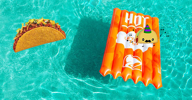 Taco Bell Fire Sauce Pool Floatie at