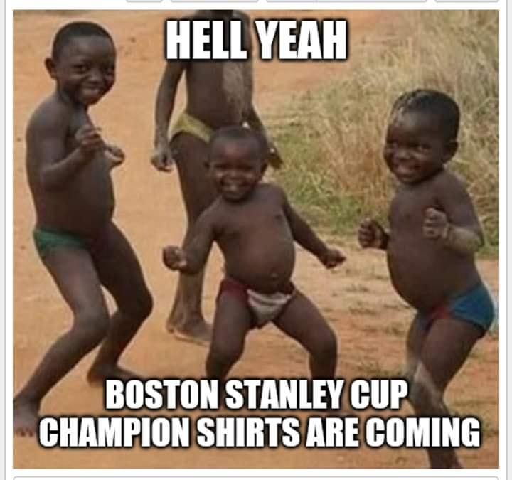 boston bruins meme - hell yeah boston stanley cup champion shirts are coming.
