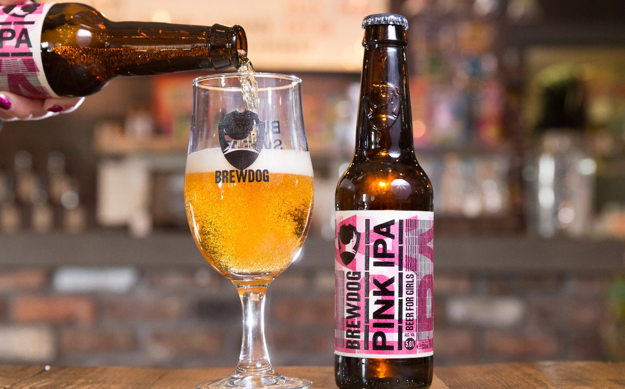 BrewDog's Pink IPA is sold at a discount to women or those who identify as female as a satirical way to highlight the gender pay gap.