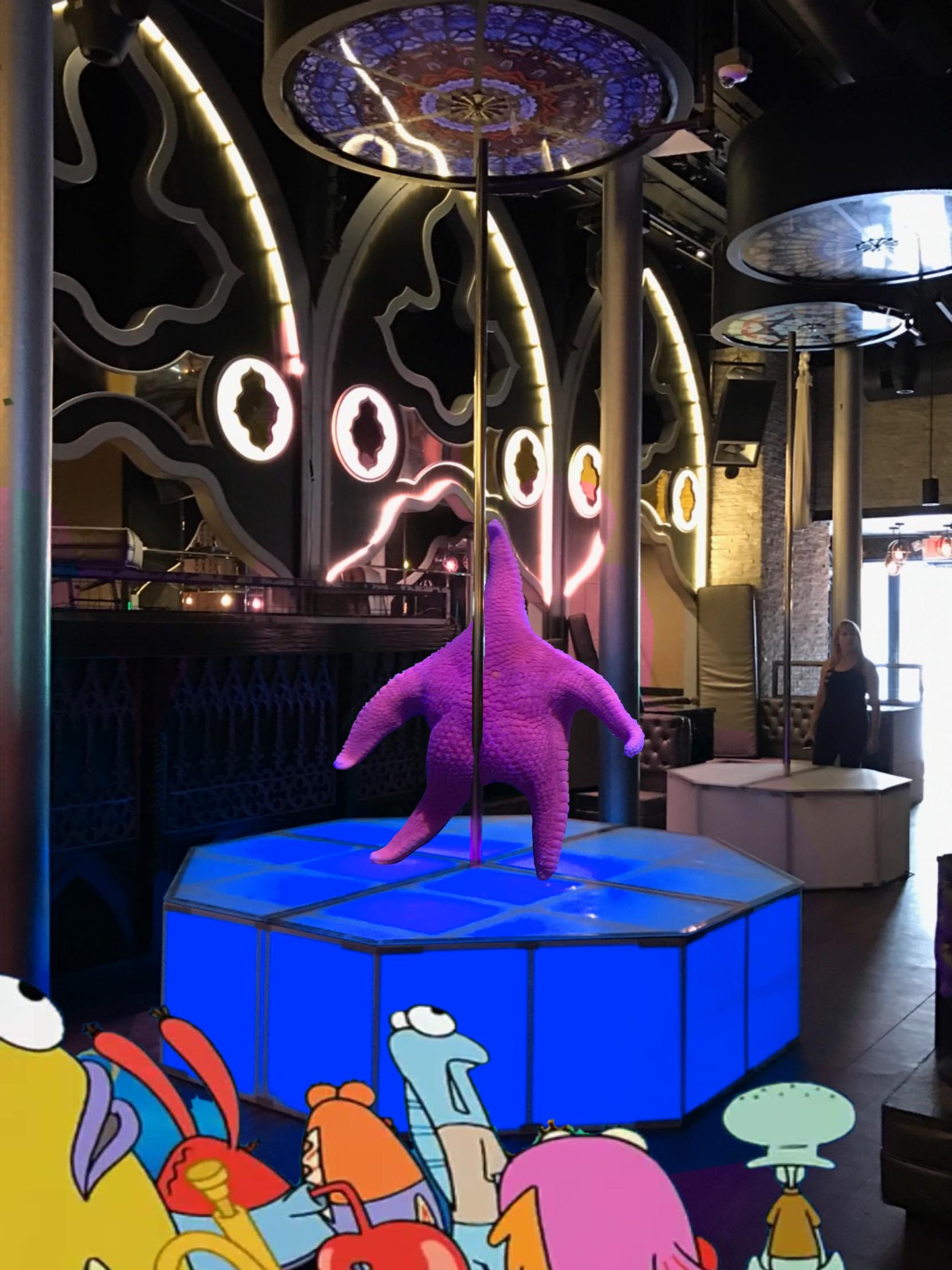 Thicc Starfish meme - pole dancing Patrick