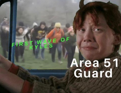 First wave of Kyles - Area 51 Guard - meme