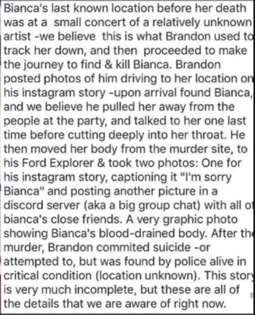 17-Year-Old E-Girl Bianca Devins Was Killed By Jealous