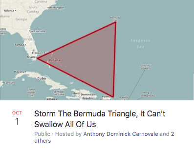 Storm The Bermuda Triangle, It Can't Swallow All Of Us Facebook event.