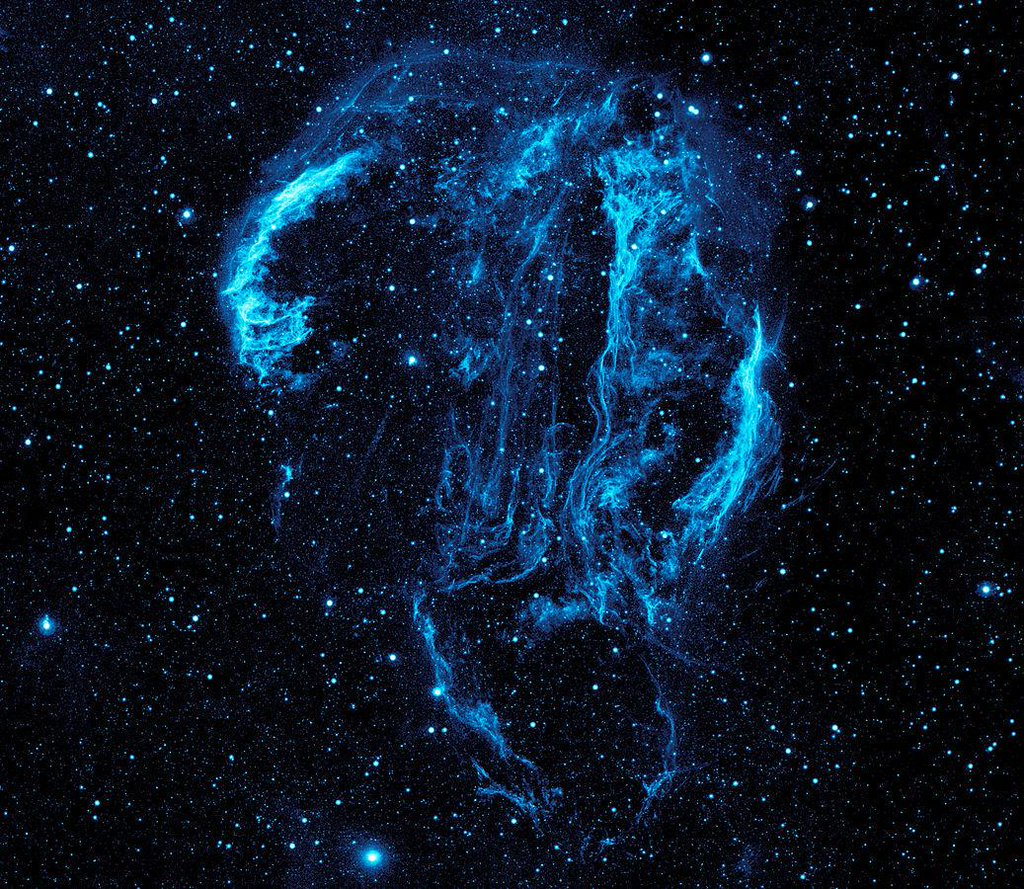 The Cygnus Loop is a ghostly supernova remnant over 5000 years old spanning 100 light years across.