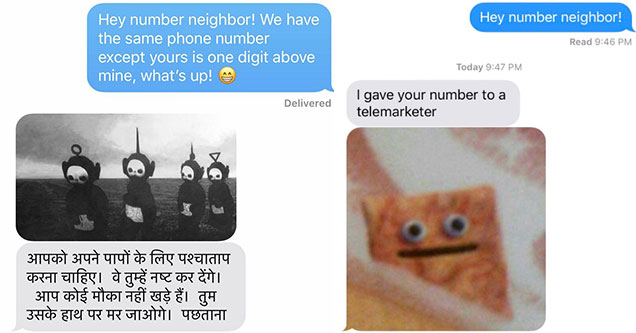 Viral Challenge texting your neighbor number gets some bizarre responses