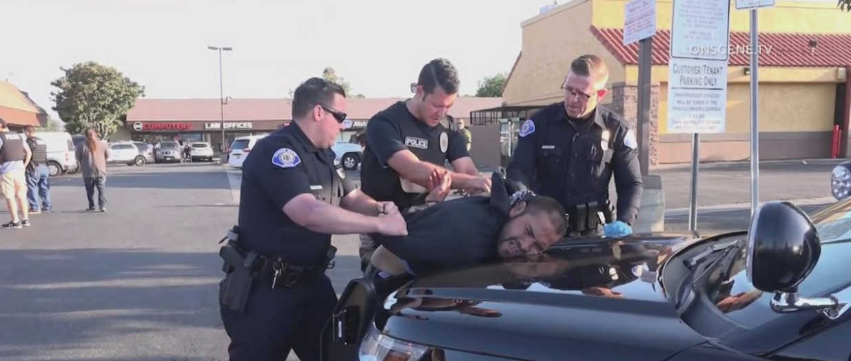 Zachary Castaneda being arrested by the LAPD after killing four in Garden Grove