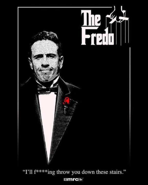 Chris Cuomo Fredo memes - photoshop of Chris Cuomo in the Godfather