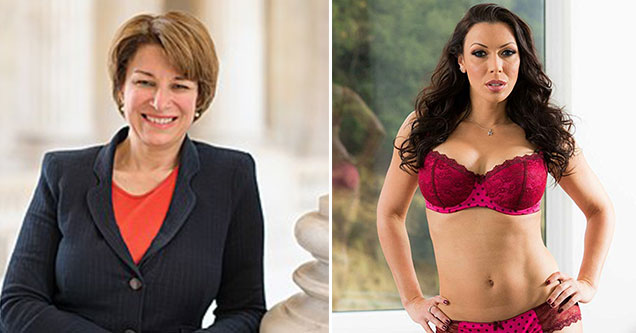 Democratic Candidates as Porn Stars - Amy Klobuchar as Rachel Starr