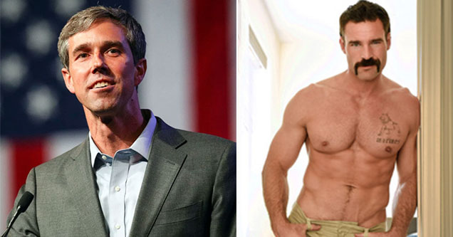 Democratic Candidates as Porn Stars - Beto o'Rourke as Charles Dera