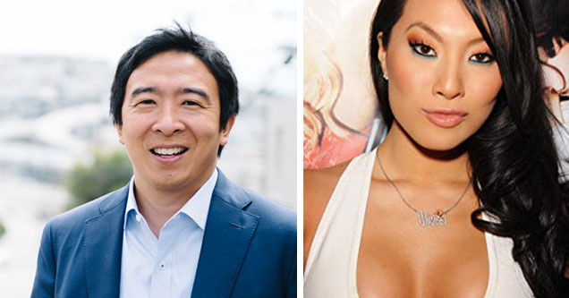 Democratic Candidates as Porn Stars - Andrew Yang as Asa Akira