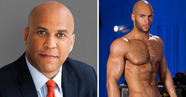 Democratic Candidates as Porn Stars - Cory Booker as Bald Gay Black Man