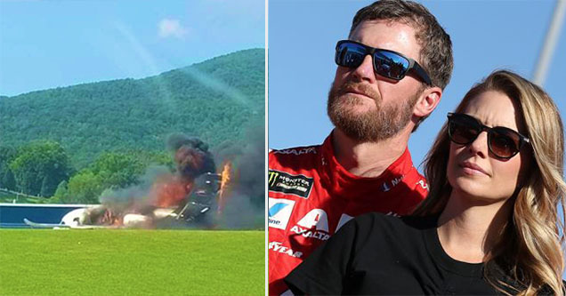 A plane carrying NASCAR star Dale Earnhardt Jr. and members of his family crashed today in Bristol Tennessee.