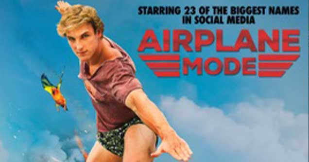 Poster for Logan Paul's film, Airplane Mode