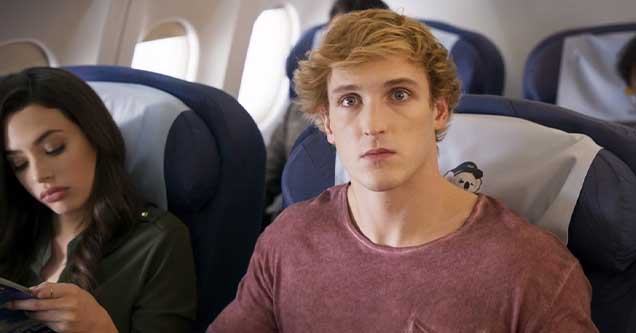 Logan Paul in a still fram from Airplane Mode