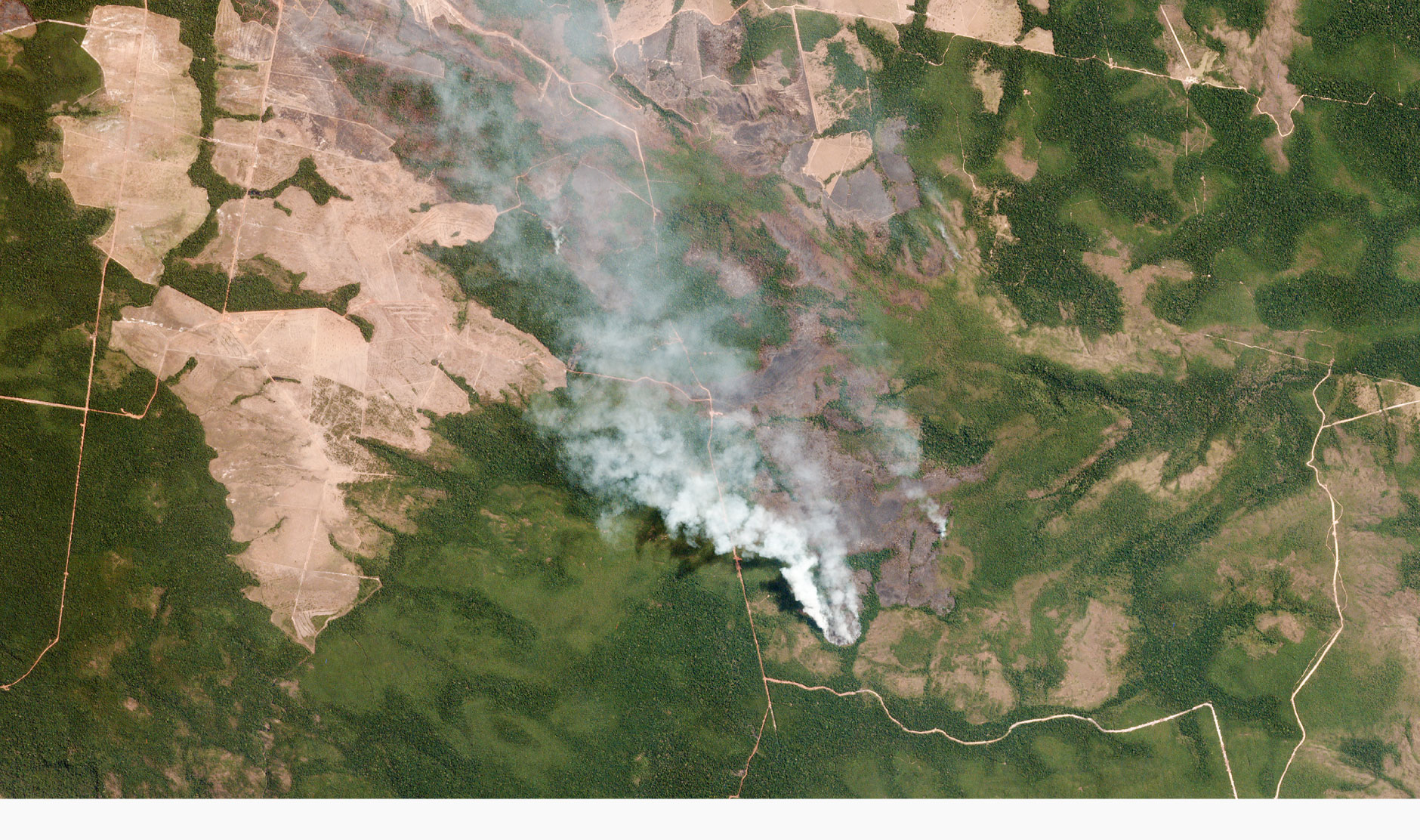 NASA photo of the Amazon forest fires from space