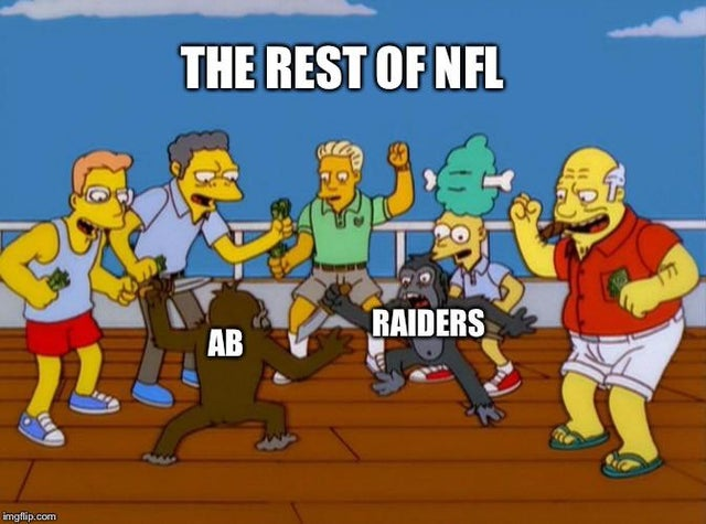 The Rest of NFL meme - AB and Raiders
