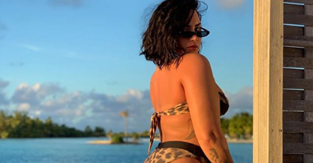 Demi Lovato shares a picture of her ass on social media