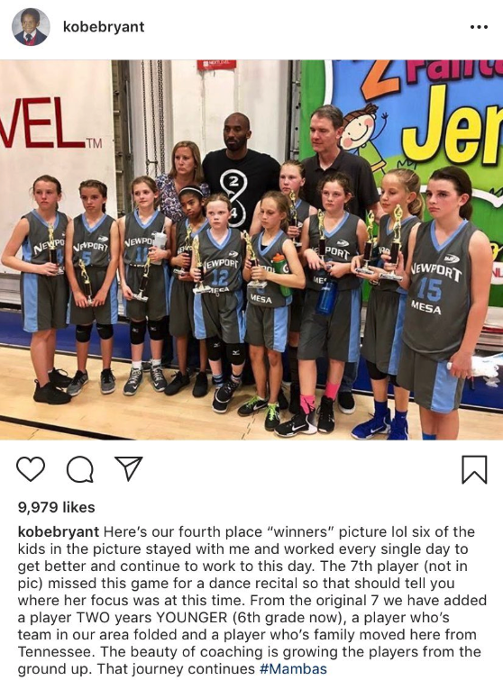 Kobe Bryant gets called out for harsh Instagram post caption