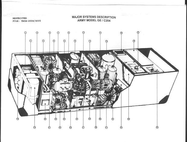 A schematic of the C204 gravity distortion unit provided by John Titor.